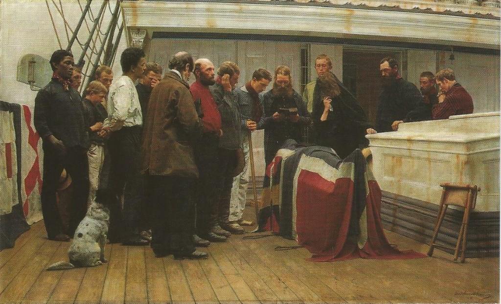 Begravelse til sjøs. scan 20150002